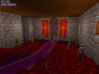 The main cast, assembled in the throne room...