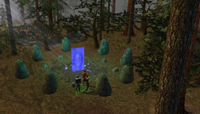 A moongate in the forests of Yew
